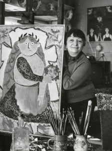 Anna Margit műtermében