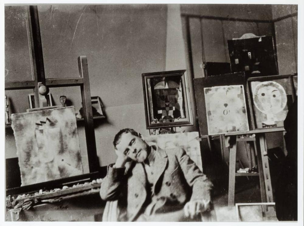 Paul Klee berni műtermében, 1939 (Forrás: www.artinthepicture.com)