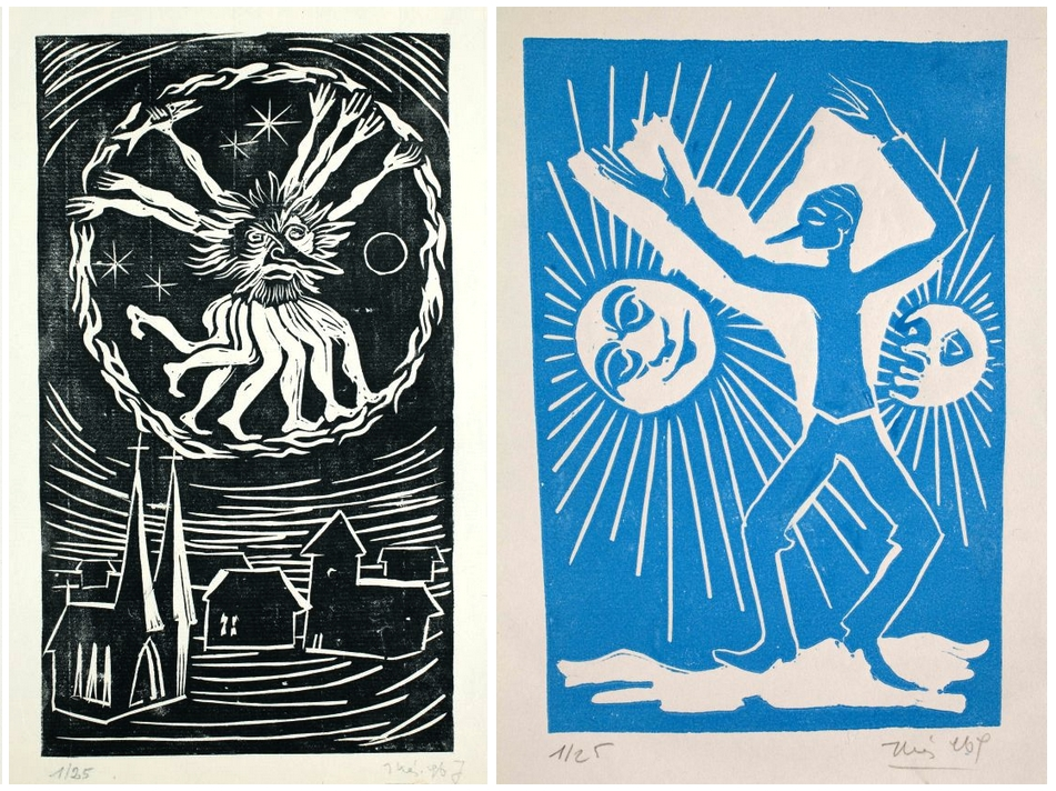Illés Árpád Bolond Istók-illusztrációja, illetve Weöres Sándor a Napot és a Holdat igazgatja című munkája