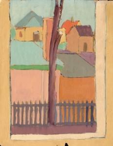 Czimra Gyula festménye az Emlékkönyvben
