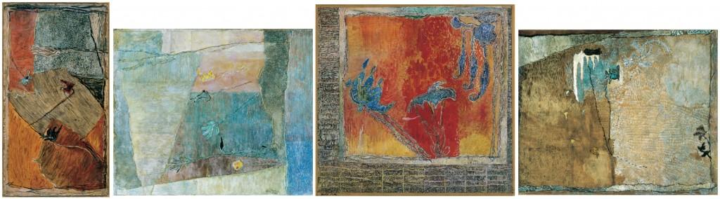 Gedő Ilka festményei a Művirágok ciklusból (Forrás: ilkagedo.hu)