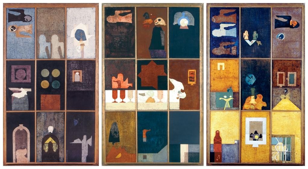 Bálint Endre: Triptichon, 1974 (Forrás: Virág Judit Galéria)