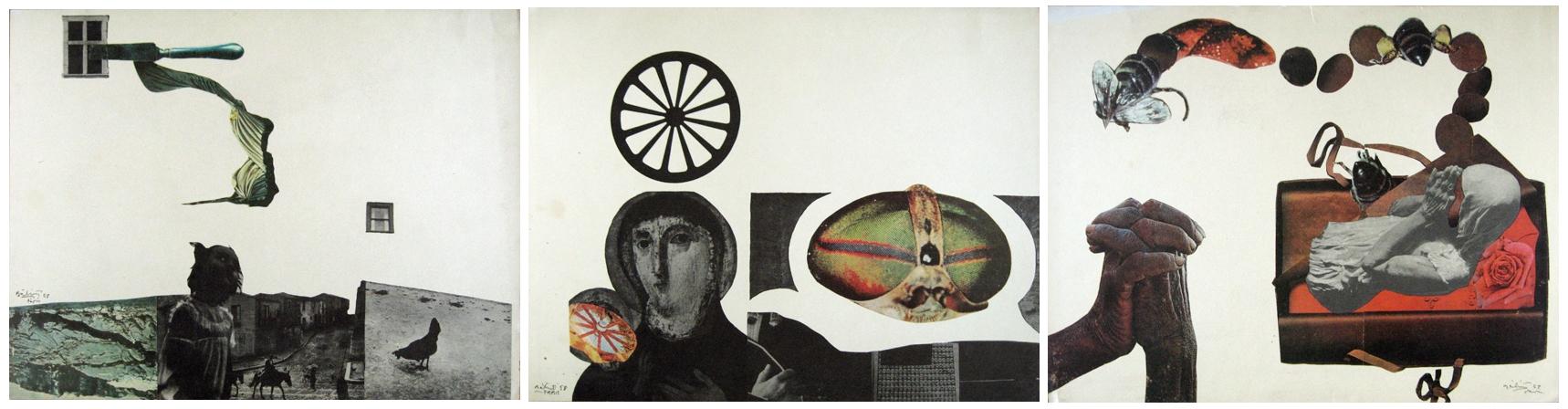 Bálint Endre kollázsai, 1959 (Forrás: Susannicon)