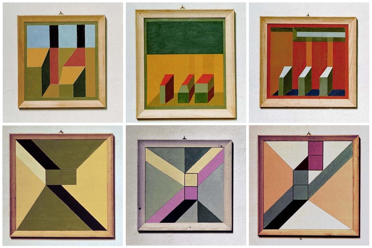 Vajda Júlia néhány munkája a Jakovits Józseffel és Kelemen Renée-vel közös, 1973. júniusi balatonboglári Kápolna Tárlatról (Forrás: Artpool)