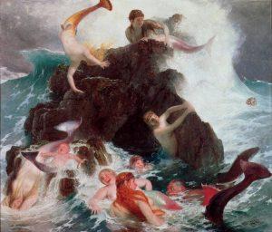 Arnold Böcklin: Játszó Naiaszok (1886)