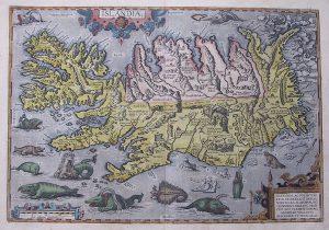 Ortelius Izland-térképe