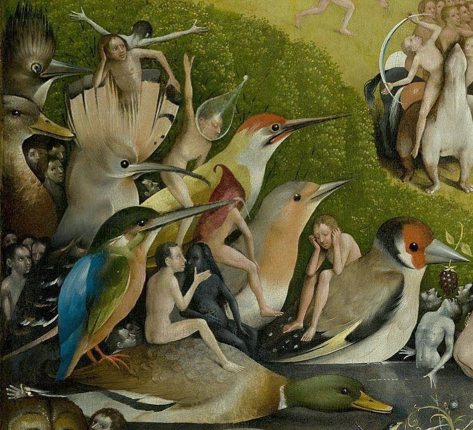 Hieronymus Bosch: Gyönyörök kertje (részlet)