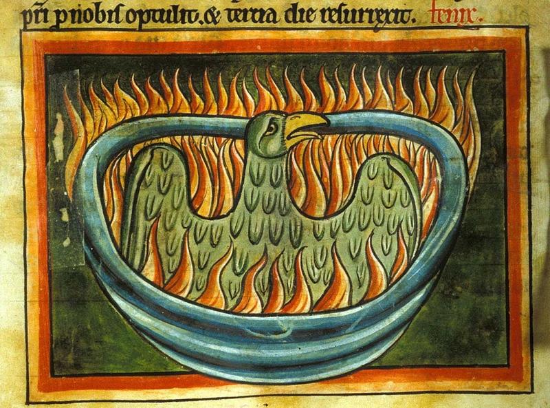Középkori főnix-ábrázolás