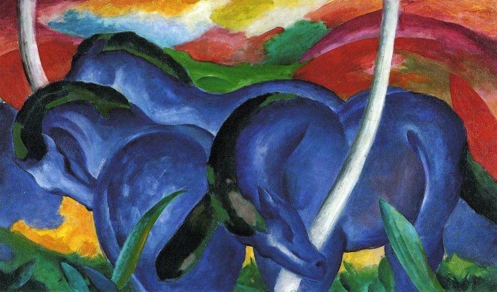 Franz Marc: A nagy kék lovak, 1911