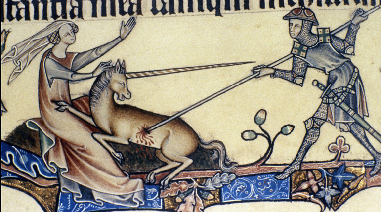 Unikornis egy középkori bestiáriumban
