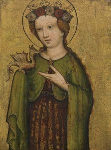 Szent Margit egy 1450 körüli ábrázoláson