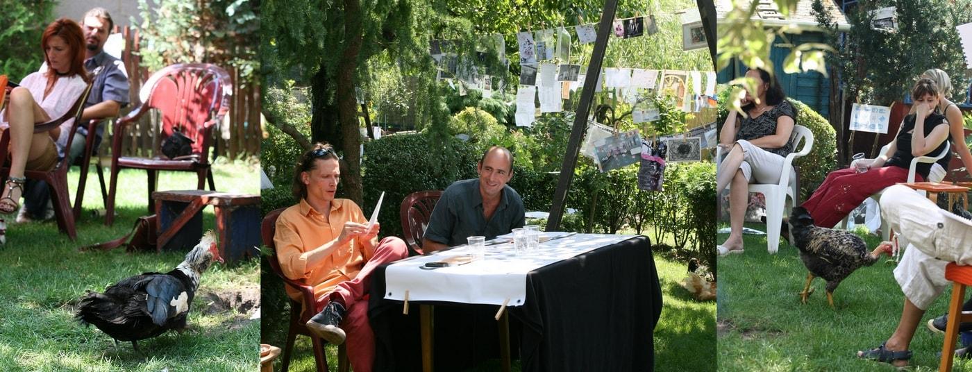 Jelenetek egy kertfesztiválról: Berka Attila, Lázár Balázs, közönség + baromfiak (Fotók: Zsubori Ervin)