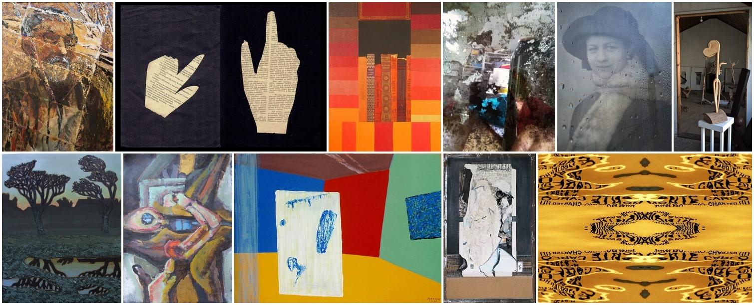 Tükör - egy-egy munka a 11 művésztől az Artézi Galériában kiállított anyagból