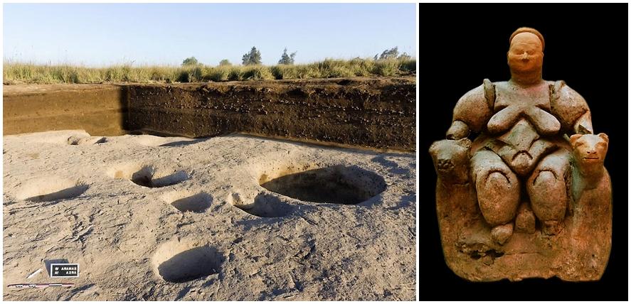 Mintegy 7 ezer éves település nyomai Egyiptomban, illetve hasonlóan régi termékenység-istennő a törökországi Çatal Hüyükről
