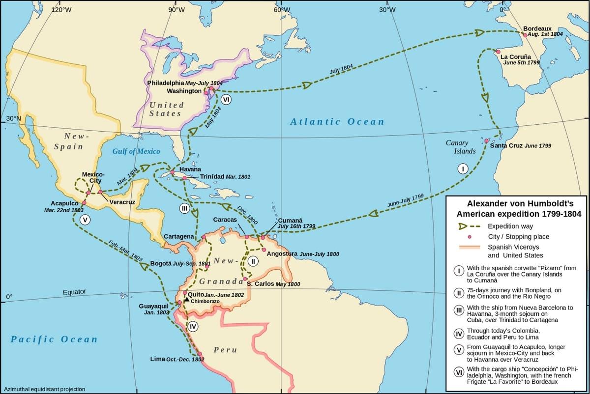 Alexander von Humboldt Amerikai útja (1799-1804)