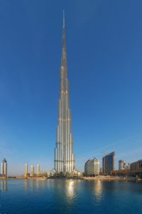 A 828 méter magas Burdzs Kalifa, Dubaj, 2010 körül
