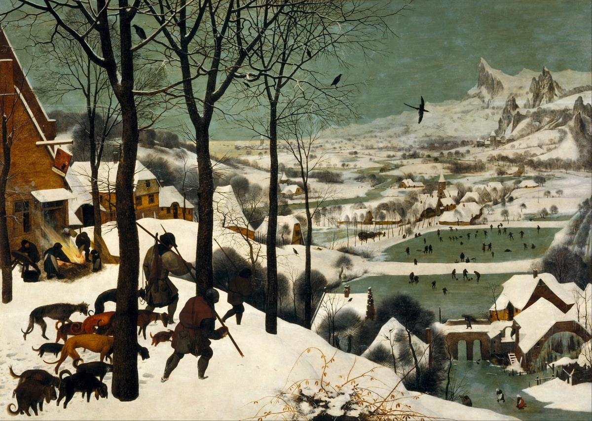 Id. Pieter Bruegel: Vadászok a hóban, 1565