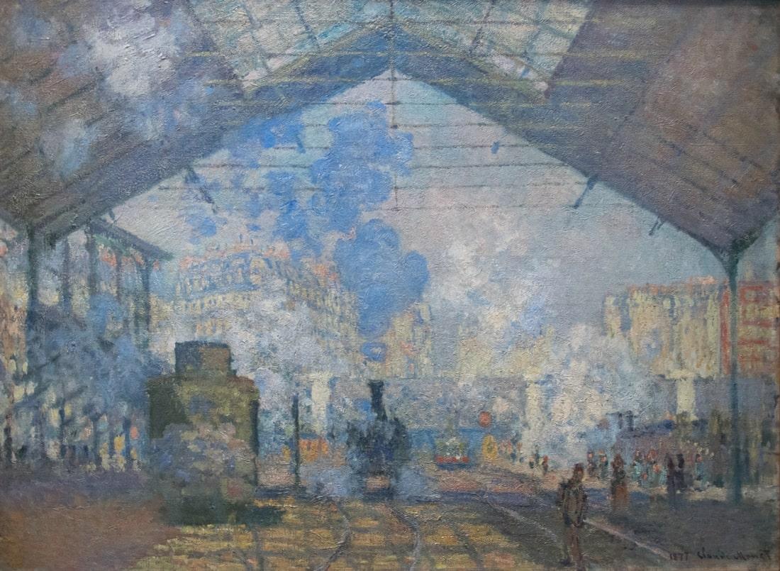 Claude Monet: Szent-Lázár Pályaudvar, 1877