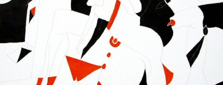Turcsányi Antal: Életképek narancsban, feketében VI., 2000