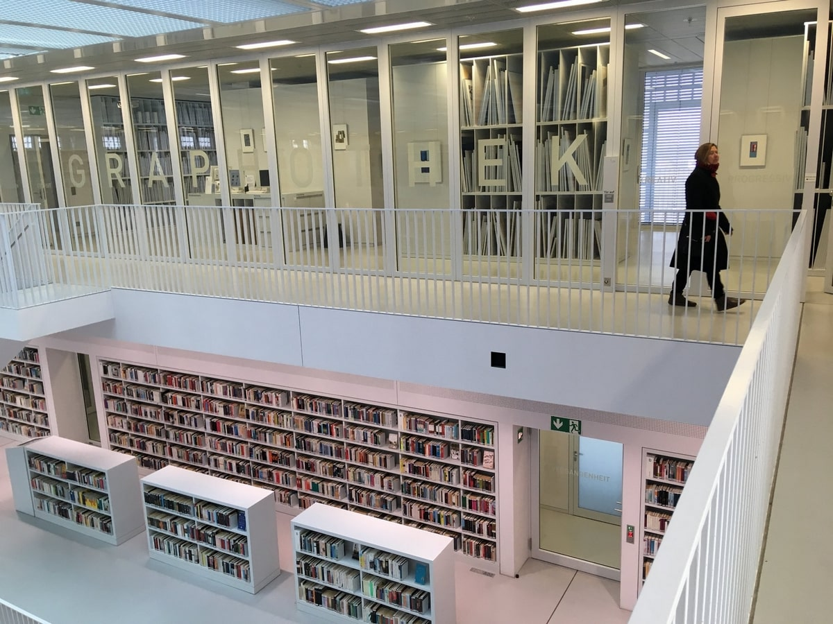 Graphotek a stuttgarti könyvtárban (Fotó: Hoffmann Tamás)