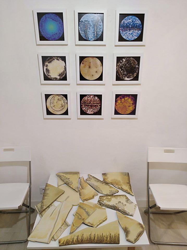 Dárdai Zsuzsa kiállításának részlete