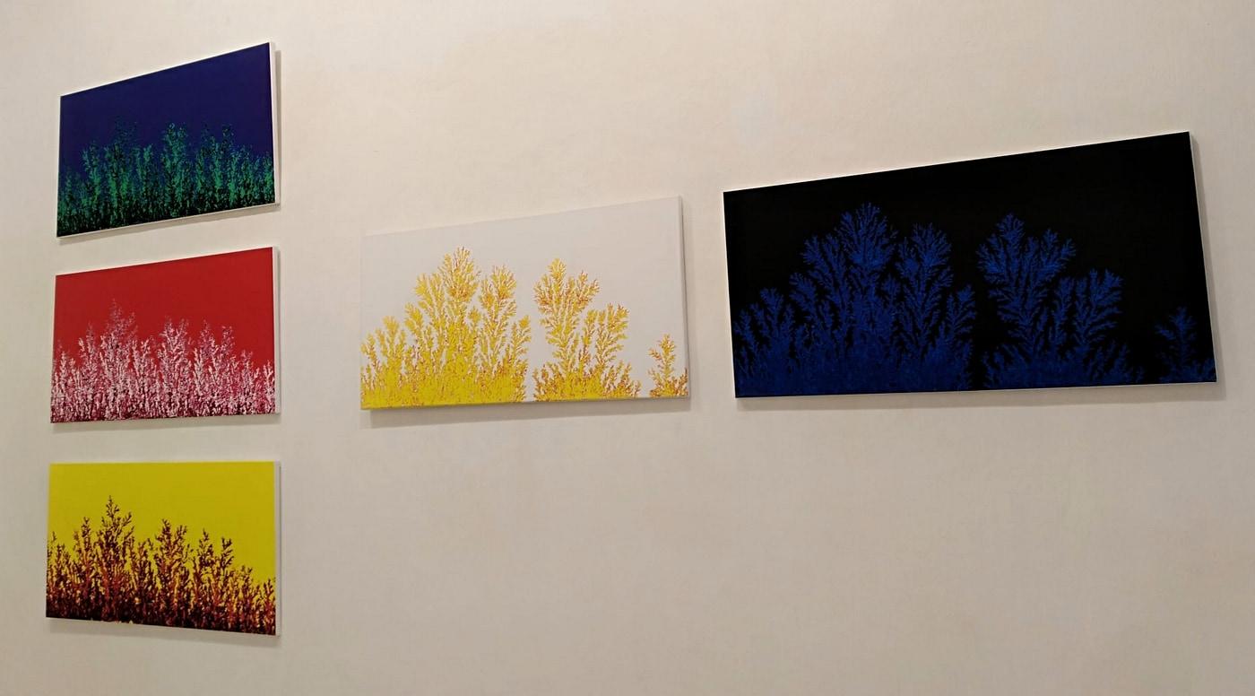 Dárdai Zsuzsa kiállításának részlete (Fotók: SAXON Art Gallery)