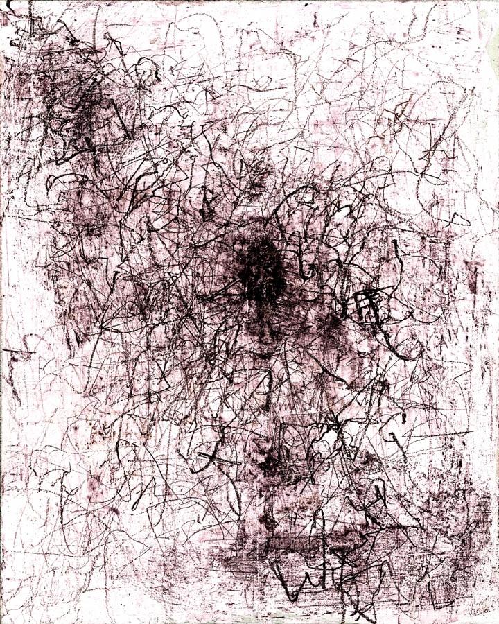 Gábos József: Meggyötört lap, 2005 (Részlet a 9 elemű ciklusból)