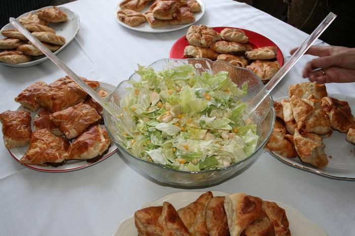 Hoffmann Márta gasztroperformanszának ehető része (Fotó: Zsubori Ervin)