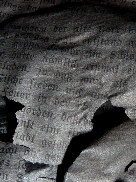 Gábos József: Egy könyv romjai (részlet a sorozatból)