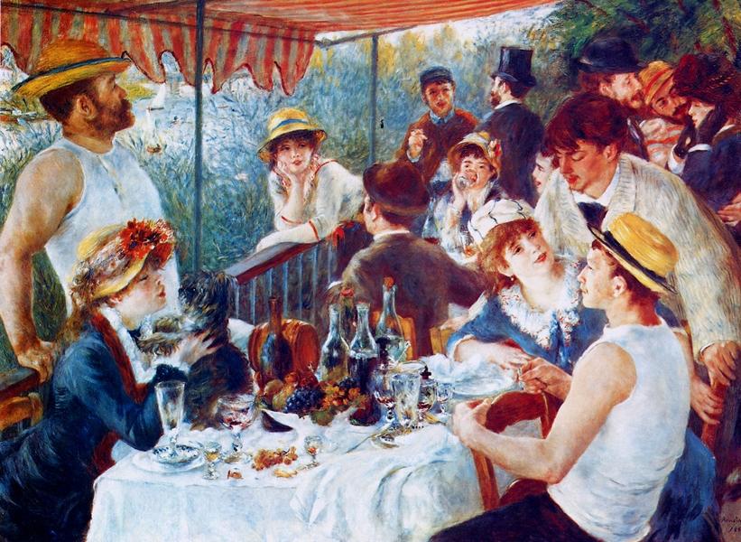 Pierre-Auguste Renoir: Az evezősök reggelije, 1880-1881