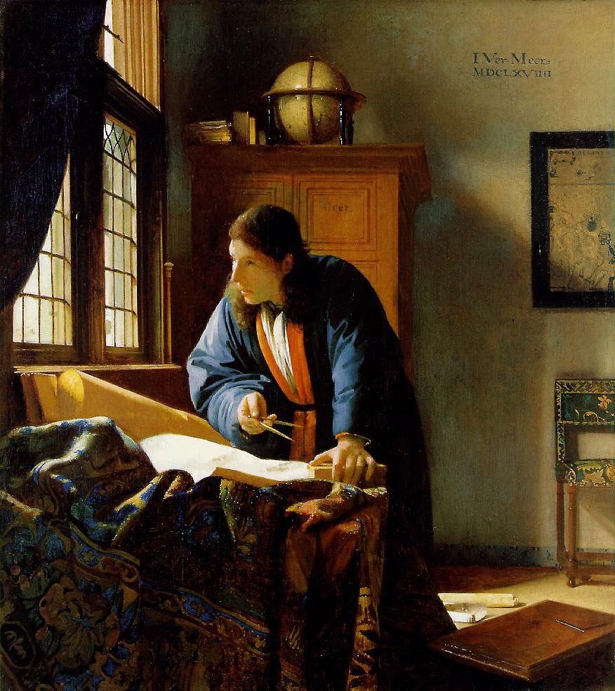 Johannes Vermeer: A geográfus (1668-1669)
